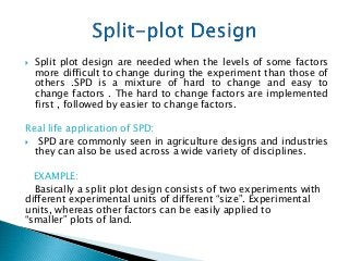 Basic Concepts of Split-Plot Design,Analysis Of Covariance