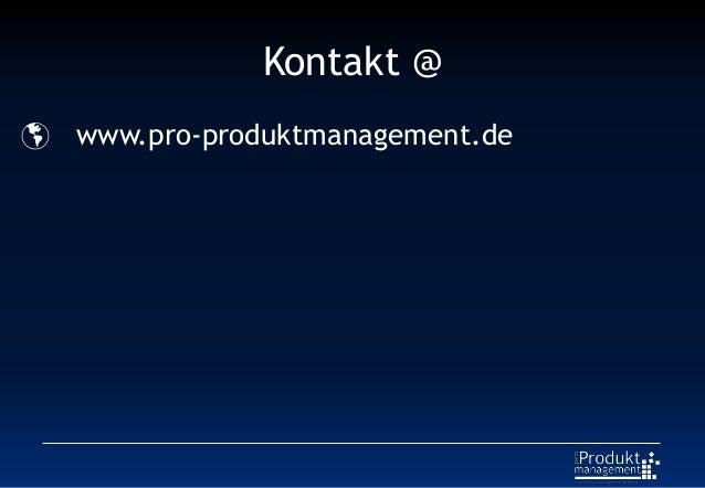 Kontakt @  www.pro-produktmanagement.de