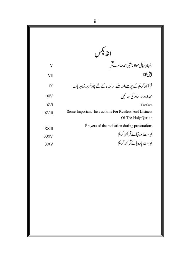 Meanings of the difficult words of The Holy Qur`an (Urdu & English Slide 3