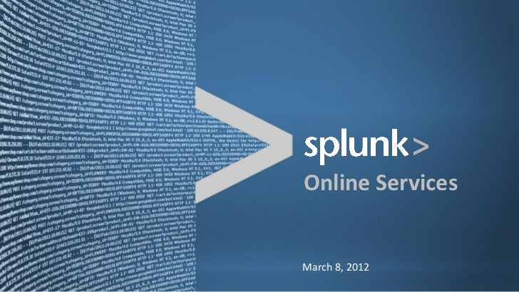 Online Services March 8, 2012