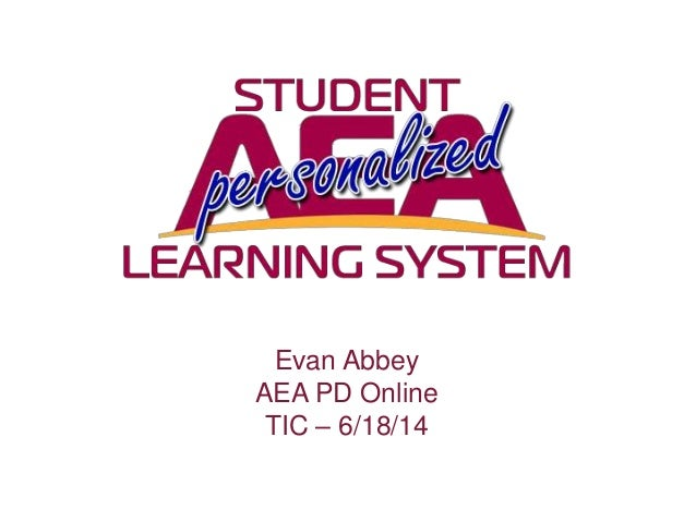 Evan Abbey AEA PD Online TIC – 6/18/14