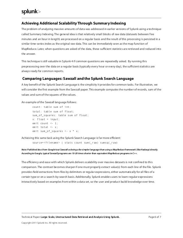 Achieving Additional Scalability Through Summary Indexing The problem of analyzing massive amounts of data was addressed i...