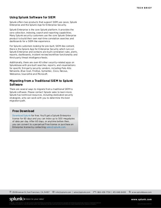 Splunk as a_siem_tech_brief Slide 3