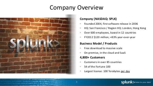 Splunk Overview Slide 3