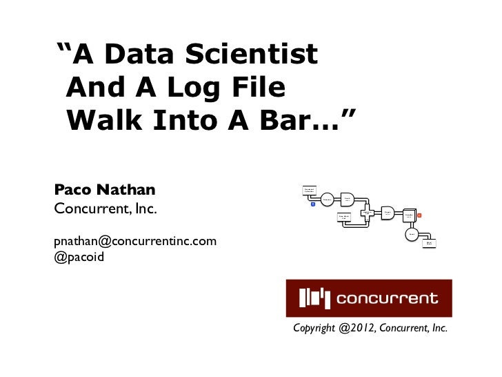 """""""A Data Scientist And A Log File Walk Into A Bar…""""Paco Nathan                   Document                              Coll..."""