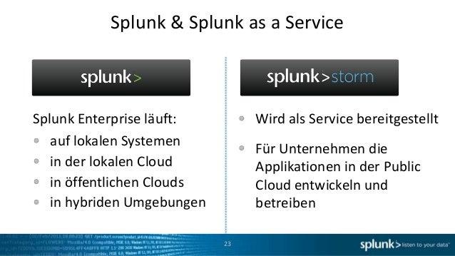 Splunk & Splunk as a ServiceSplunk Enterprise läuft:         Wird als Service bereitgestellt   auf lokalen Systemen       ...