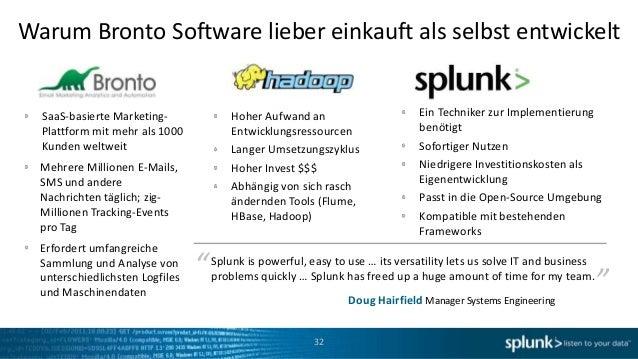 Warum Bronto Software lieber einkauft als selbst entwickelt  SaaS-basierte Marketing-               Hoher Aufwand an      ...