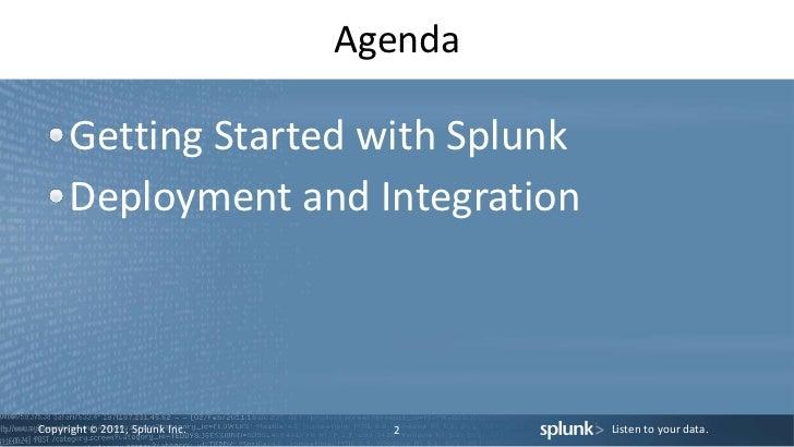 SplunkLive 2011 Beginners Session Slide 2