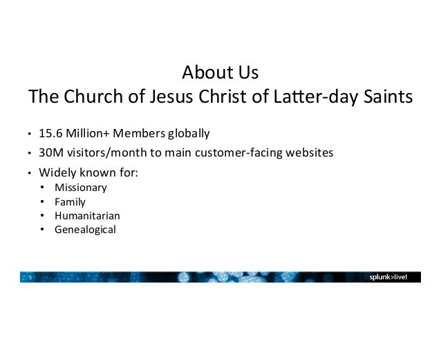 The Church Of Jesus Christ Latter Day Saints Customer Presentation