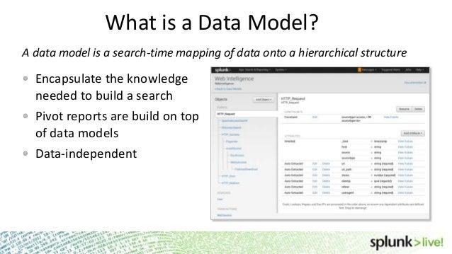 SplunkLive! Data Models 101