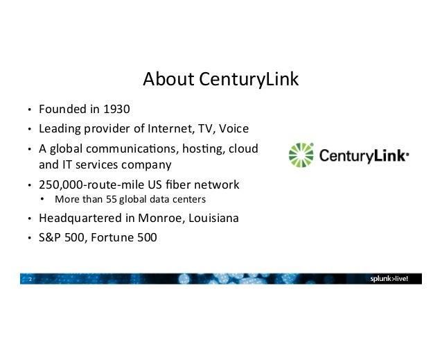 CenturyLink Customer Presentation