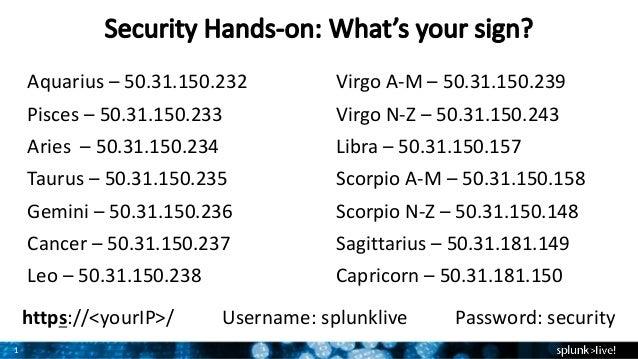 Splunk Enterprise for Information Security Hands-On Breakout Session