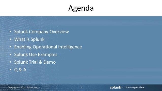 Splunk sales presentation Slide 2