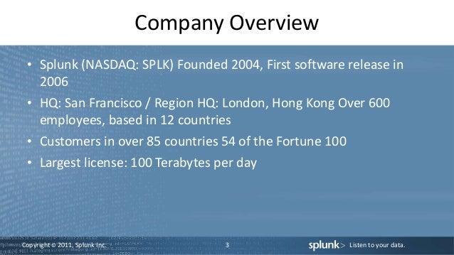 Splunk sales presentation Slide 3