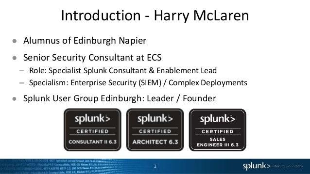 Building Splunk Apps, Development Paths with Splunk & User Behaviour Analytics  Slide 2