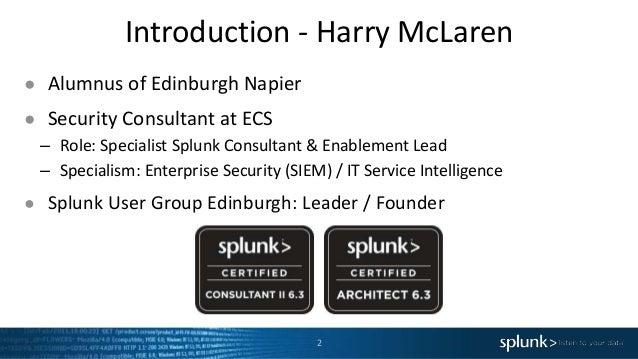 Splunk User Group Edinburgh - November Event Slide 2