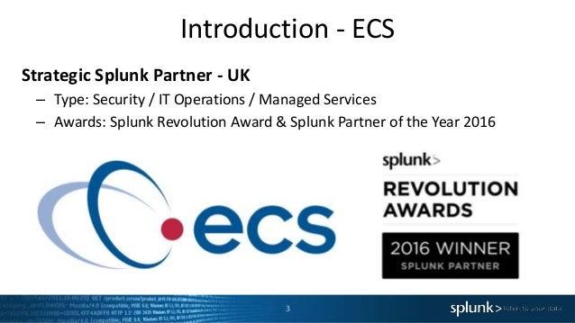 Splunk User Group Edinburgh - November Event Slide 3