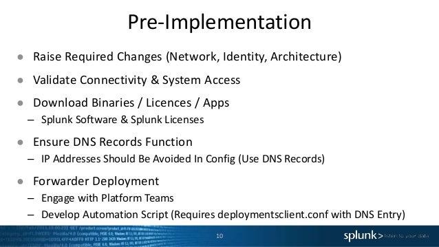 Pre-Implementation 10 ● Raise Required Changes (Network, Identity, Architecture) ● Validate Connectivity & System Access ●...