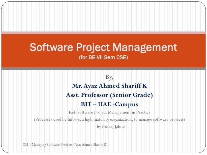 Software Project Management                                   (for BE VII Sem CSE)                                        ...