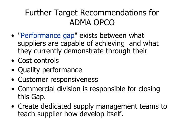 adma opco supply chain management View priyal singh's  areas of interest include supply chain risk management, supply chain relationships and  site integrity service engineer at adma-opco.