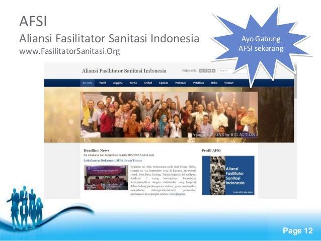 Free Powerpoint Templates  Page 12  AFSI Aliansi Fasilitator Sanitasi Indonesia www.FasilitatorSanitasi.Org  Ayo Gabung AF...