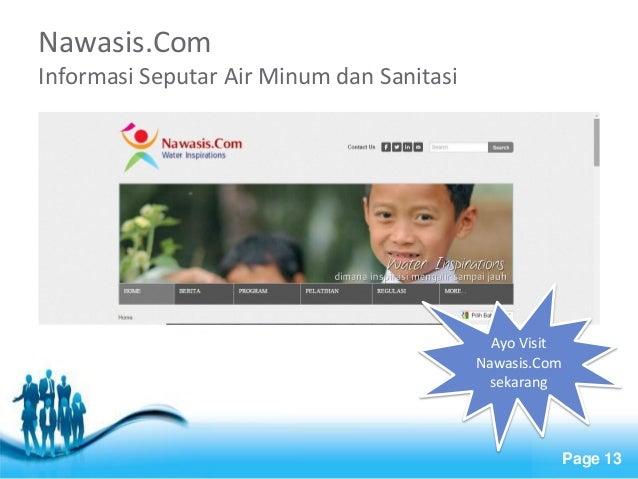 Free Powerpoint Templates  Page 13  Nawasis.Com Informasi Seputar Air Minum dan Sanitasi  Ayo Visit Nawasis.Com sekarang