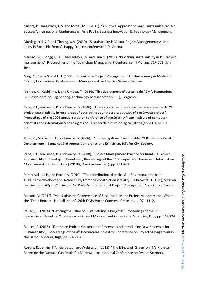 Sustainability in project management literature overview 28062015 22 ajlbertsilviusliteratureonsustainabilityinprojectsandprojectmanagement fandeluxe Gallery
