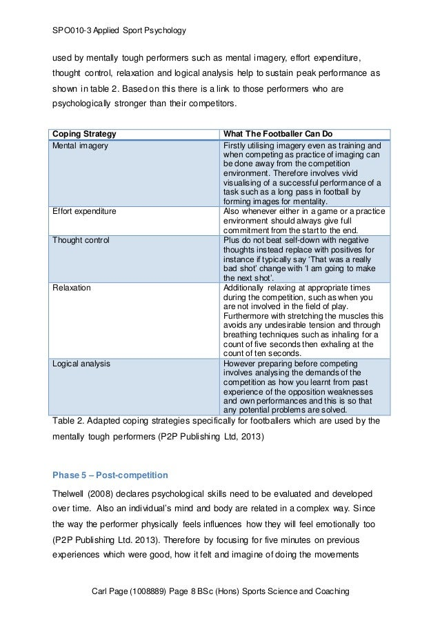 the three phases of psychological skills training essay Sport psychology: analysis of psychological skills training models with particular reference to thomas's (1990) model for performance enhancement.