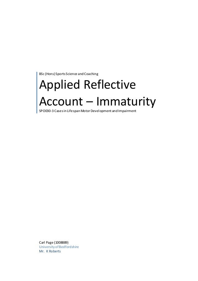 therapeutic reflective account Therapeutic relationships - gibbs reflective cycle 8 pages 1982 words november 2014 saved essays save your essays here so you can locate them quickly.