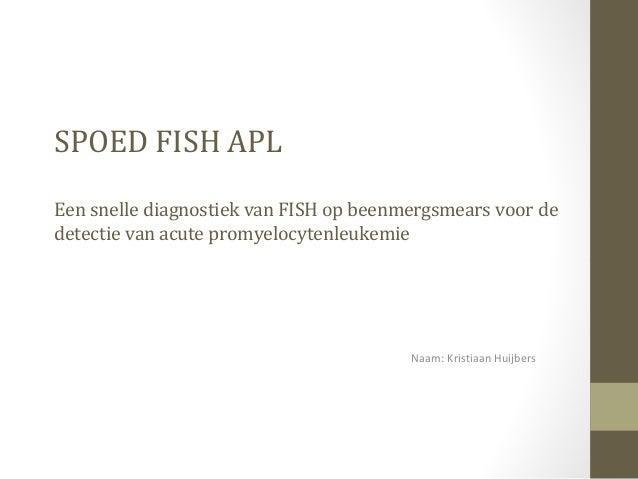 SPOED FISH APL Een snelle diagnostiek van FISH op beenmergsmears voor de detectie van acute promyelocytenleukemie Naam: Kr...
