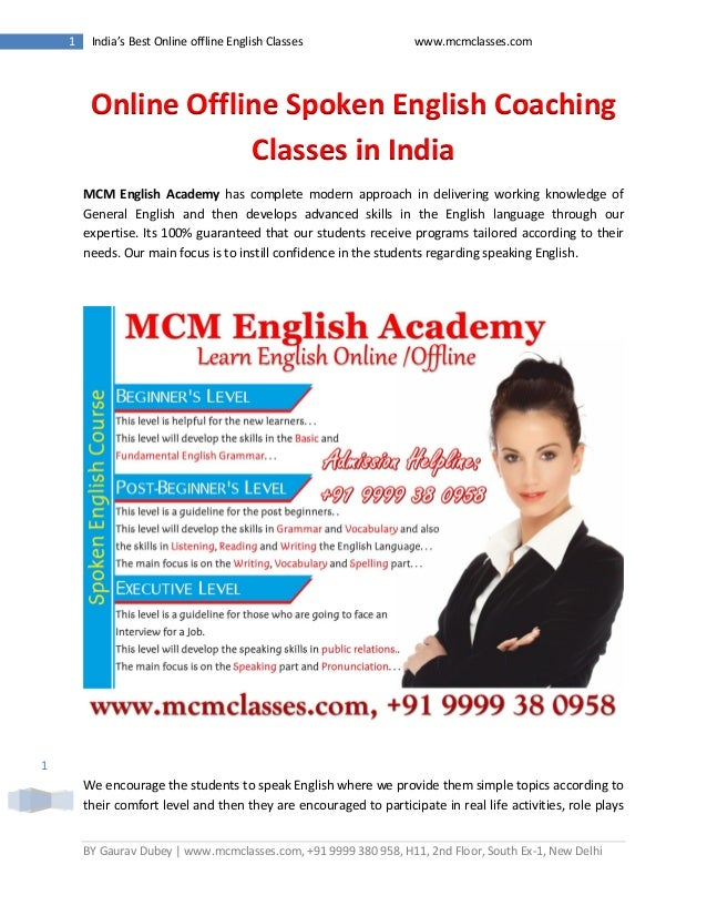 Online speaking english