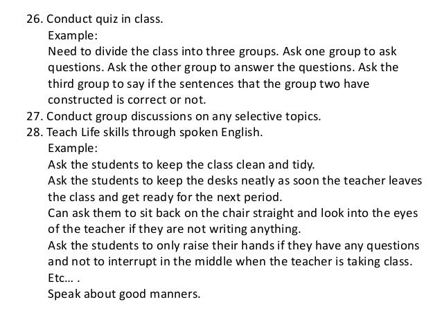Spoken english syllabus power point.