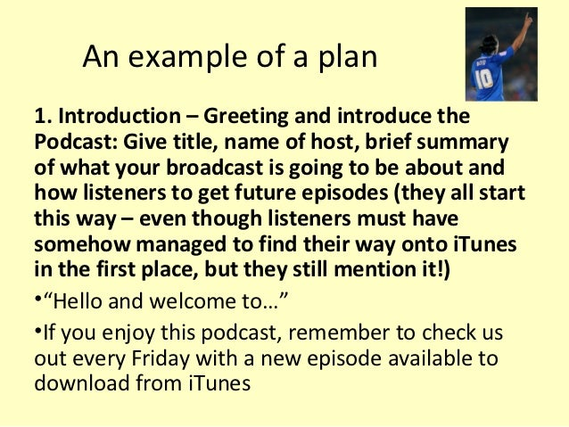 how to begin a podcast script