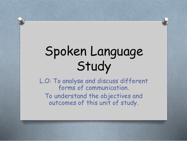 spoken language study