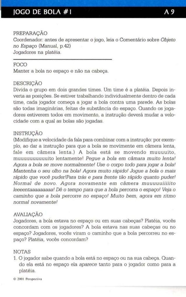 JOGO DE BOLA #1 A 9  PREPARAÇÃO  Coordenador: antes de apresentar o jogo , leia o Comentário sobre Objeto  no Espaço (Manu...
