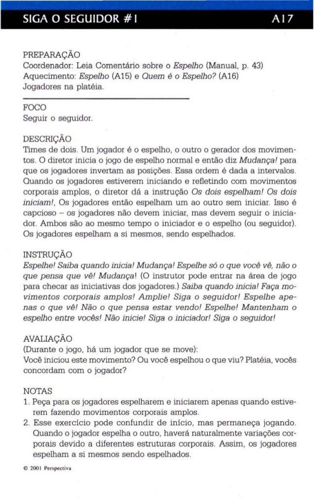SIGA O SEGUIDOR # I A I 7  PREPARAÇÃO  Coordenador: Leia Comentário sobre o Espelho (Manual, p. 43)  Aquecimento: Espelho ...