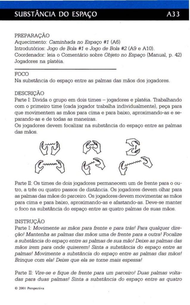SUBSTÂNCIA DO ESPAÇO A33  PREPARAÇÃO  Aquecimento: Caminhada no Espaço #1 (A6)  Introdutórios: Jogo de Bola #1 e Jogo de B...