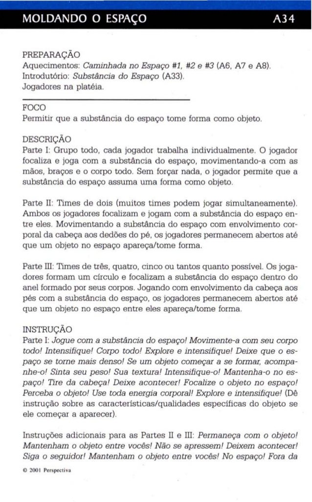 MOLDANDO O ESPAÇO A34  PREPARAÇÃO  Aquecimentos: Caminhada no Espaço #1, #2 e #3 (A6, A7 e A8).  Introdutório: Substância ...