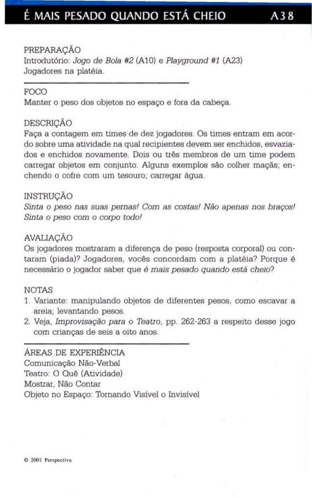É MAIS PESADO QUANDO ESTÁ CHEIO A38  PREPARAÇÃO  Introdutório : Jogo de Bola #2 (AlO) e Playgroun d #1 (A23)  Jogadores na...