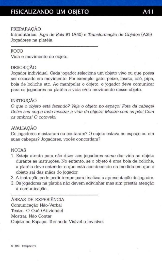 FI51CALlZANDO UM OBJETO A41  PREPARAÇÃO  Int rodutórios : Jogo de Bola #1 (A40) e Transformação de Obje tos (A35)  Jogador...