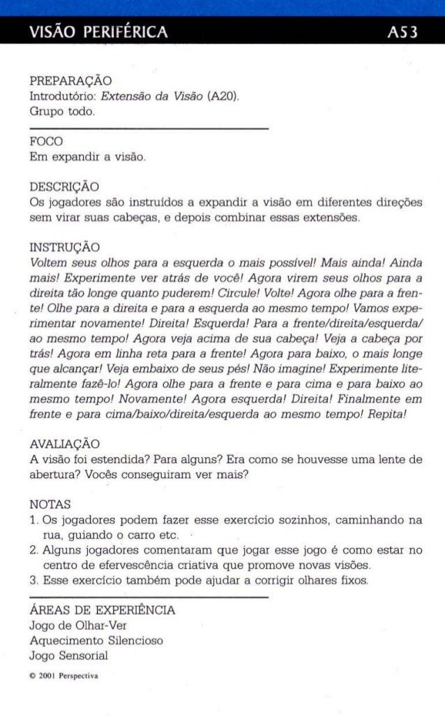 VISÃO PERIFÉRICA AS3  PREPARAÇÃO  Introdutório: Extensão da Visão (A2ü).  Grupo todo.  FOCO  Em expandir a visão.  DESCRIÇ...