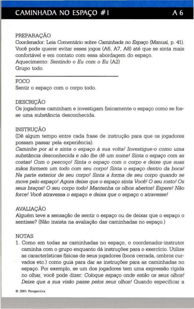 CAMINHADA NO ESPAÇO # I A 6  PREPARAÇÃO  Coordenador: Leia Comentário sobre Caminhada no Espaço (Manual, p. 41).  Você pod...