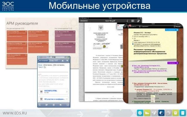 Мобильные устройства  WWW.EOS.RU