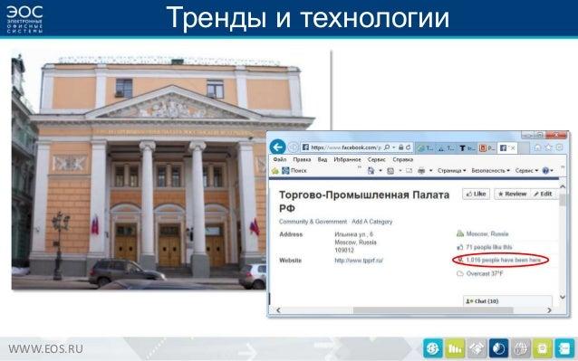 Тренды и технологии  WWW.EOS.RU