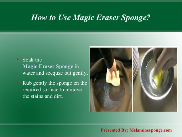 Melamine Sponge Cleaning With Magic Erasers