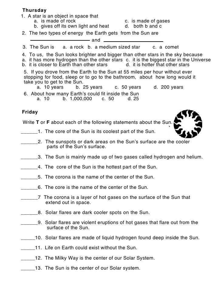 Worksheets Sun Worksheets about the sun worksheet