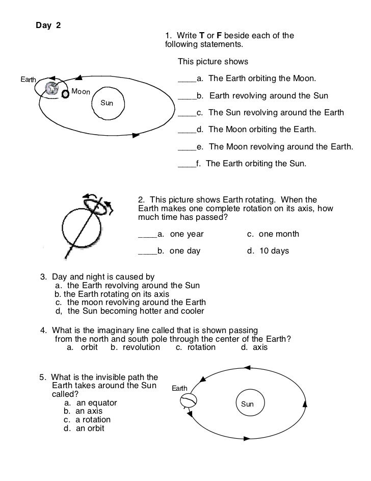 Planet rotation worksheet – Sun Worksheet