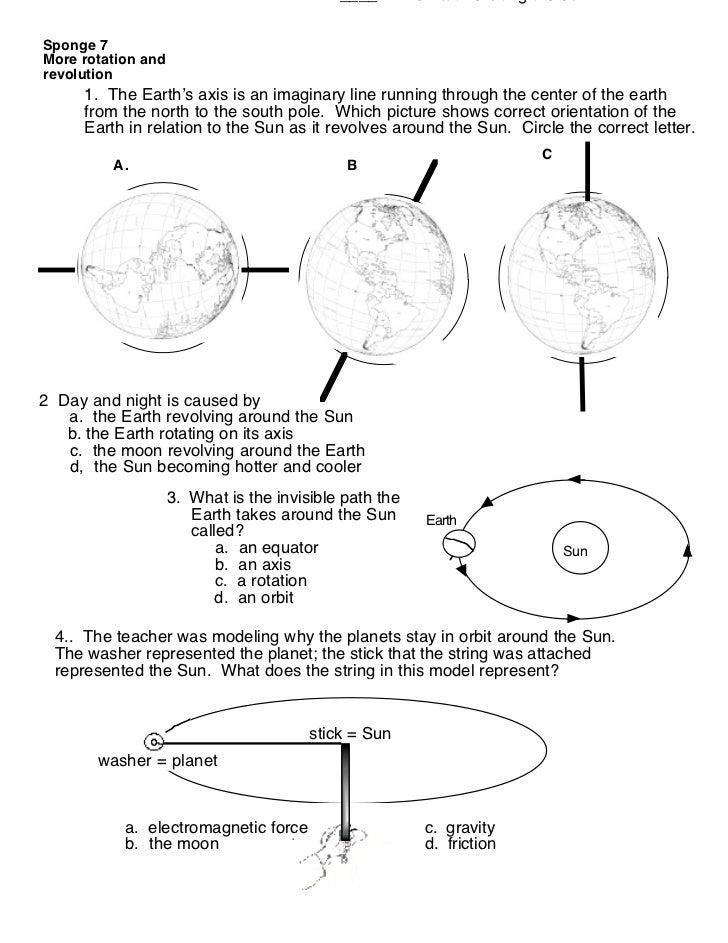 Rotation Revolution Worksheet Free Worksheets Library | Download ...