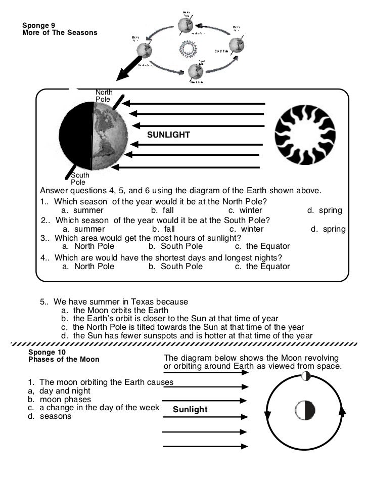 Solar system worksheet 2 – Reasons for Seasons Worksheet