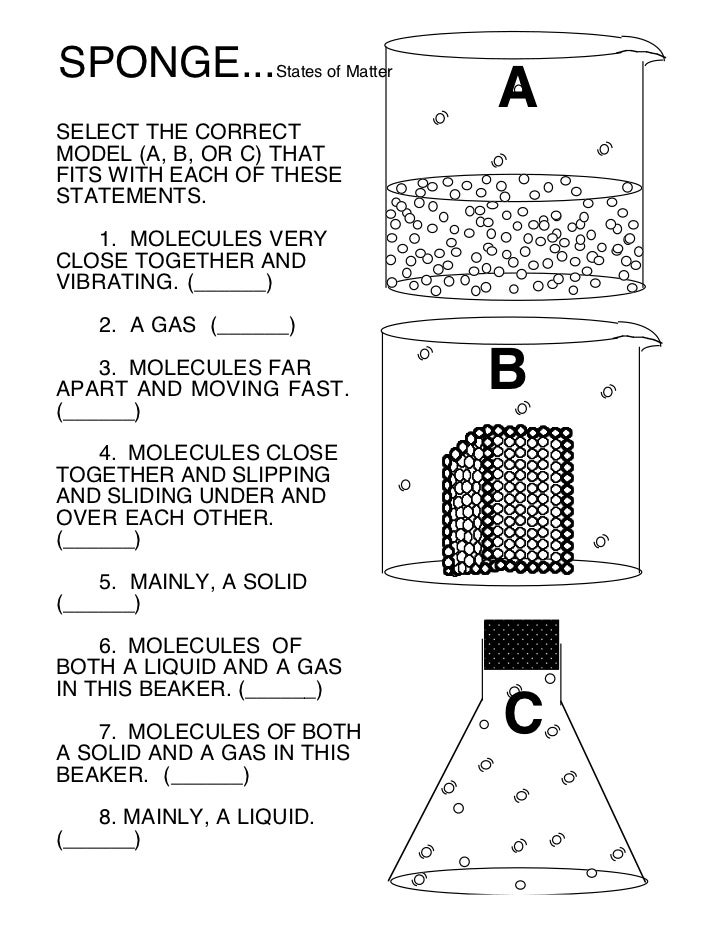State of matter (Worksheet 5)